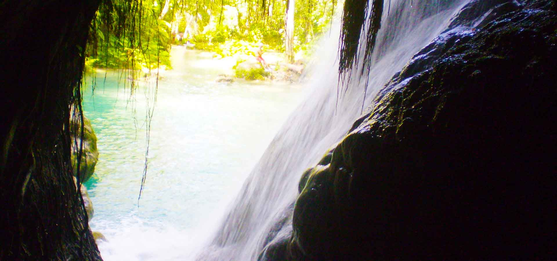 Inside the cave at the blue holes and secret falls, Ocho Rios